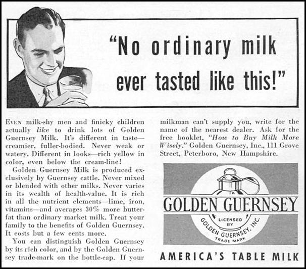 GOLDEN GUERNSEY MILK GOOD HOUSEKEEPING 12/01/1934 p. 203