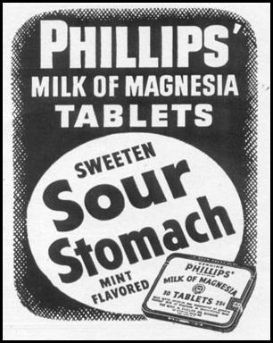 PHILLIPS' MILK OF MAGNESIA TABLETS LIFE 01/21/1952 p. 95