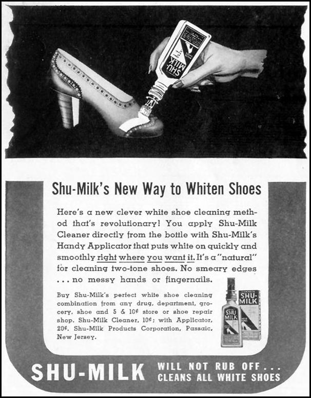 SHU-MILK SHOE CLEANER LIFE 06/23/1941 p. 72