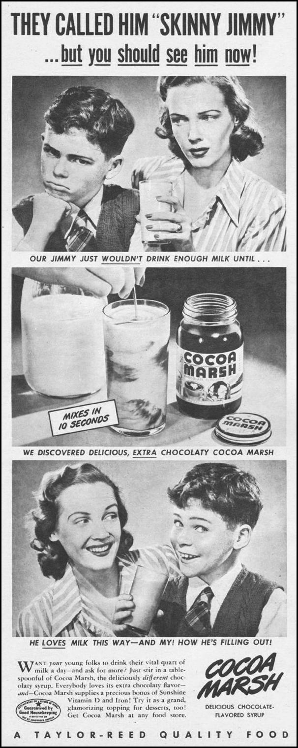 COCOA MARSH CHOCOLATE SYRUP LIFE 11/25/1946 p. 146