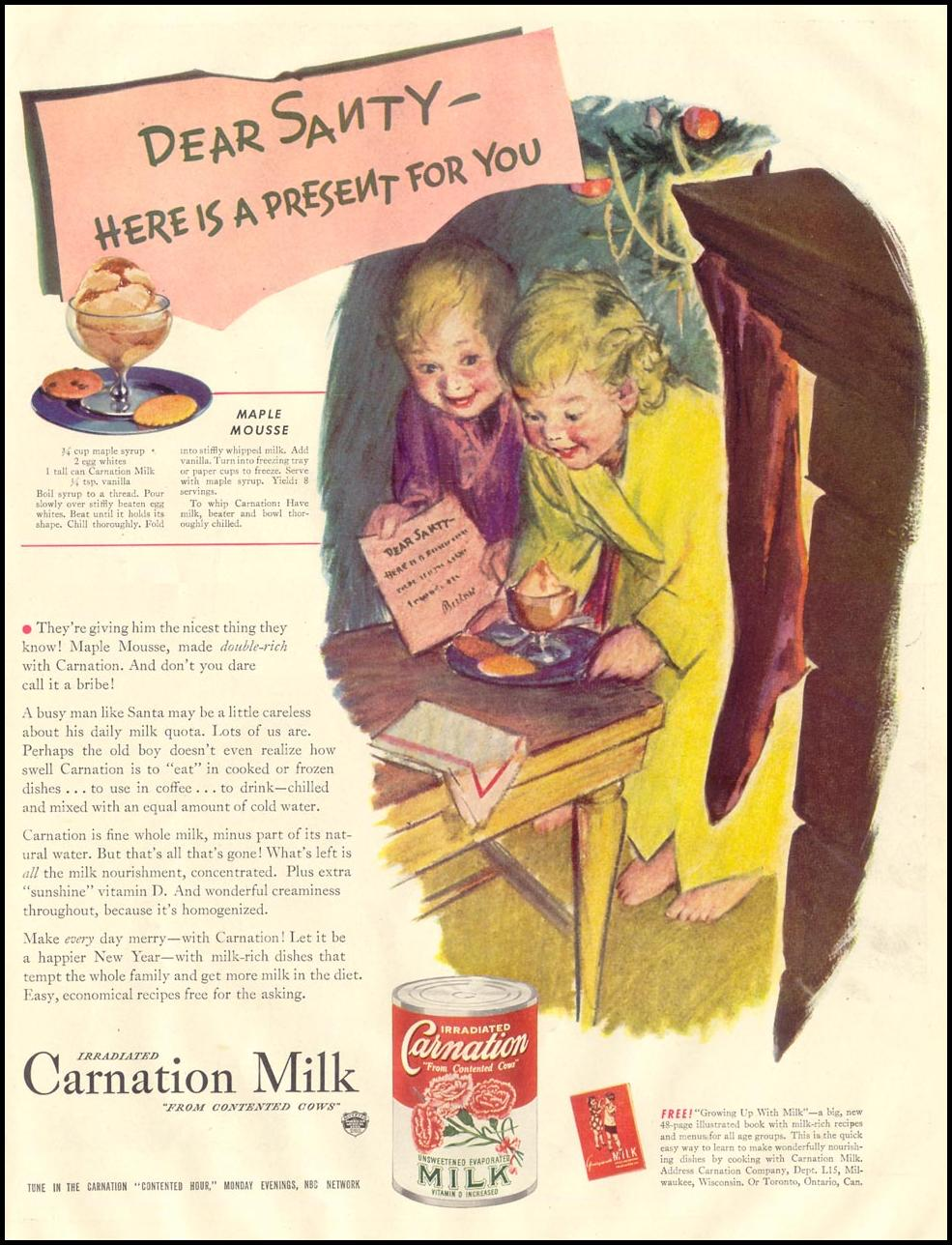 CARNATION EVAPORATED MILK LIFE 11/30/1942