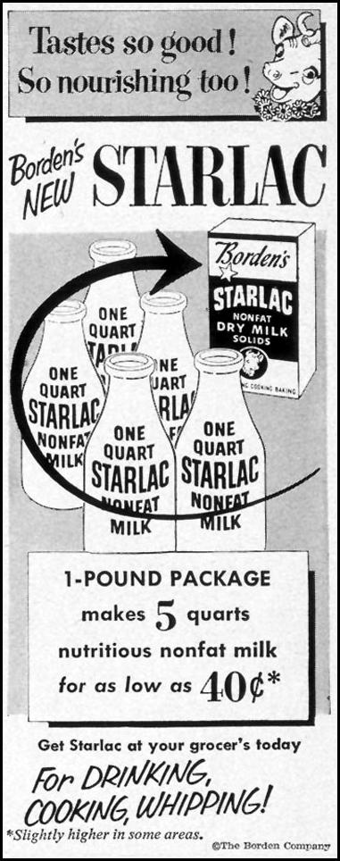 STARLAC NONFAT DRY MILK LIFE 12/24/1951 p. 54