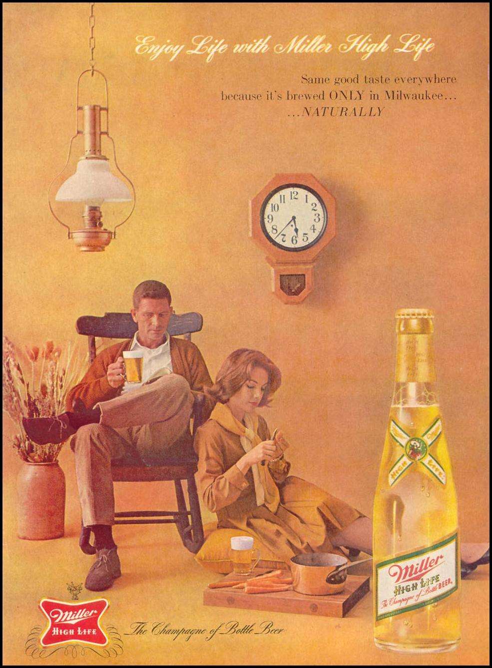 MILLER HIGH LIFE BEER TIME 11/17/1961