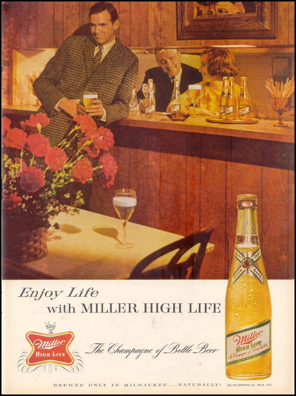 MILLER HIGH LIFE BEER TIME 12/06/1963