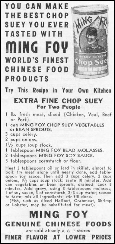 MING FOY GENUINE CHINESE FOODS WOMAN'S DAY 10/01/1939 p. 46