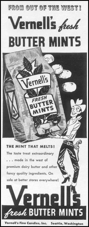 VERNELL'S FRESH BUTTER MINTS LIFE 01/21/1952 p. 92