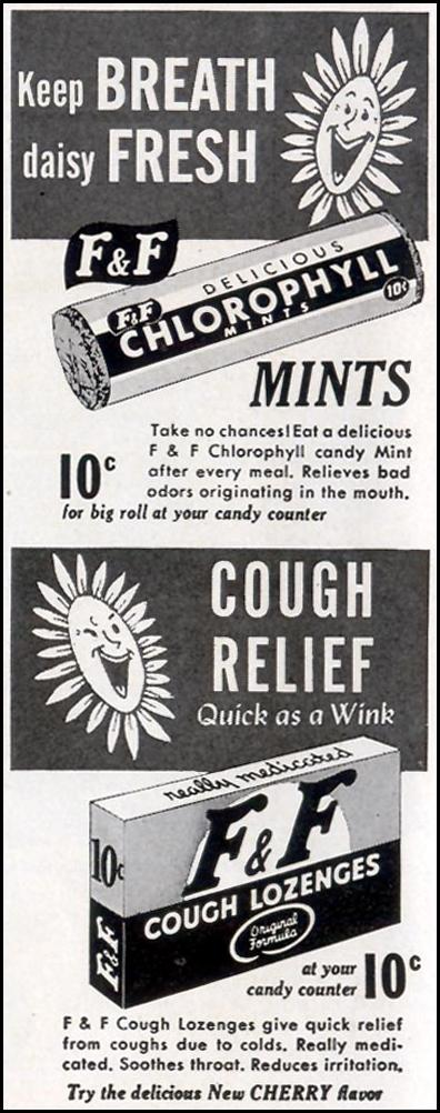 F & F LOZENGES AND MINTS