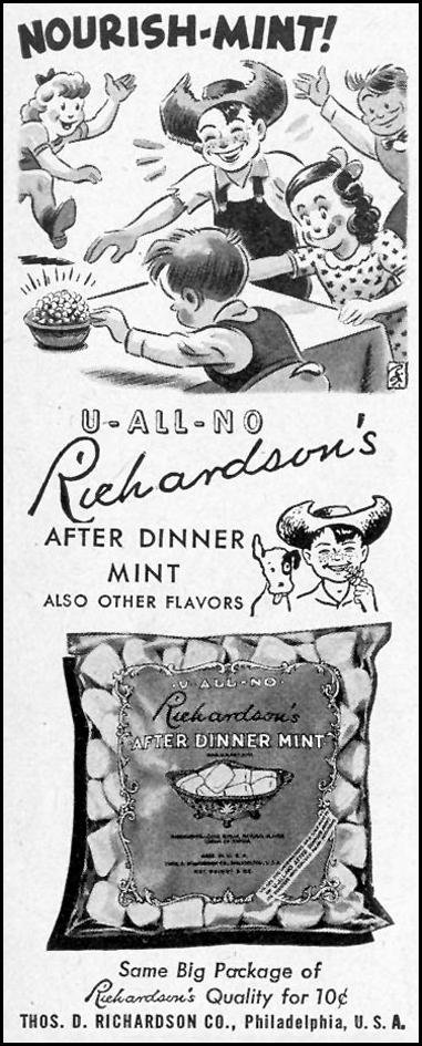 RICHARDSON'S U-ALL-NO AFTER DINNER MINTS LIFE 02/28/1944 p. 96