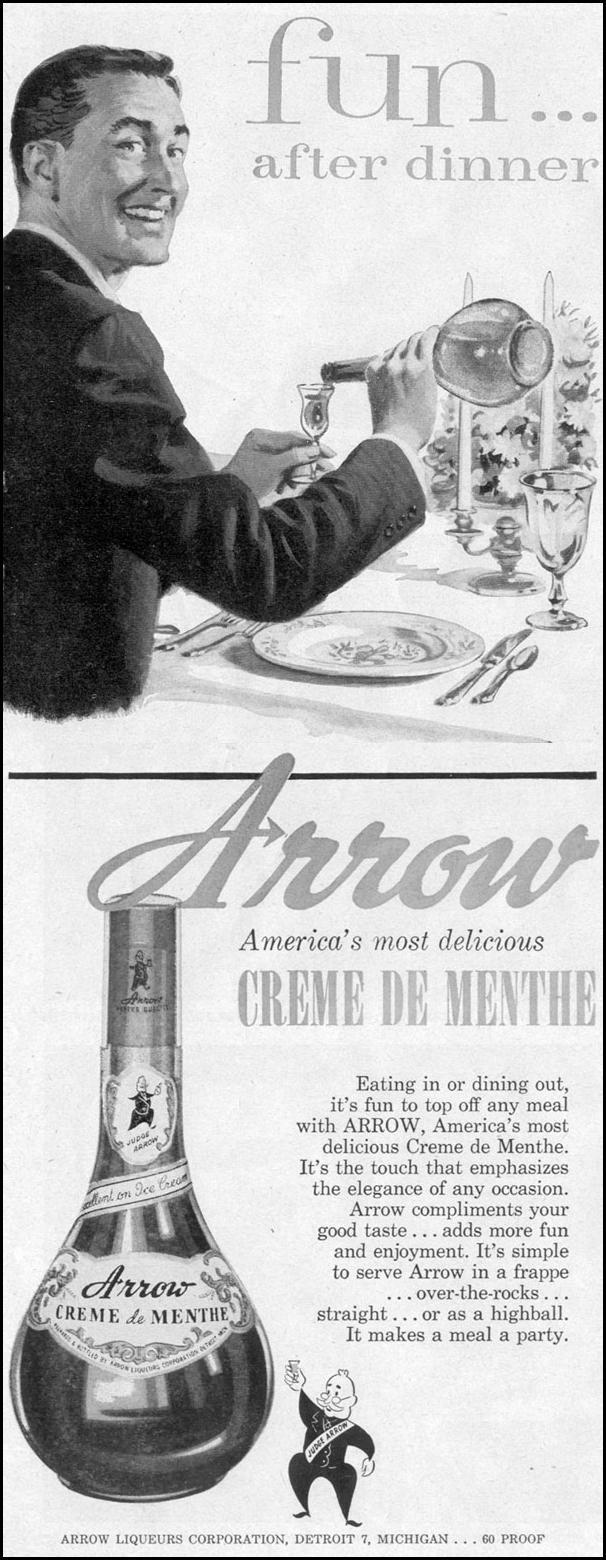 ARROW CREME DE MENTHE LIFE 11/14/1955 p. 18