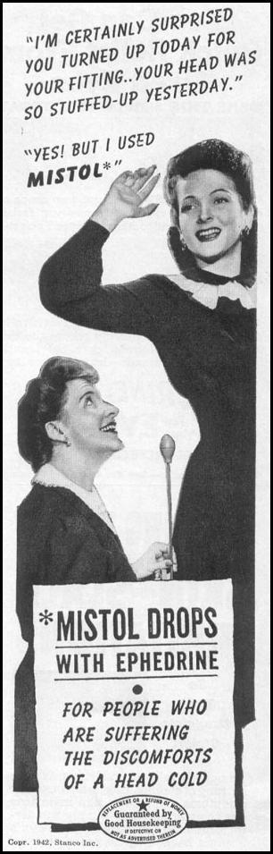 MISTOL DROPS WITH EPHEDRINE LIFE 11/02/1942 p. 106