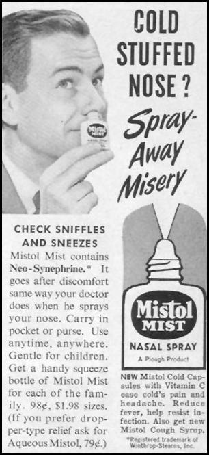 MISTOL MIST NASAL SPRAY LIFE 11/14/1955 p. 18