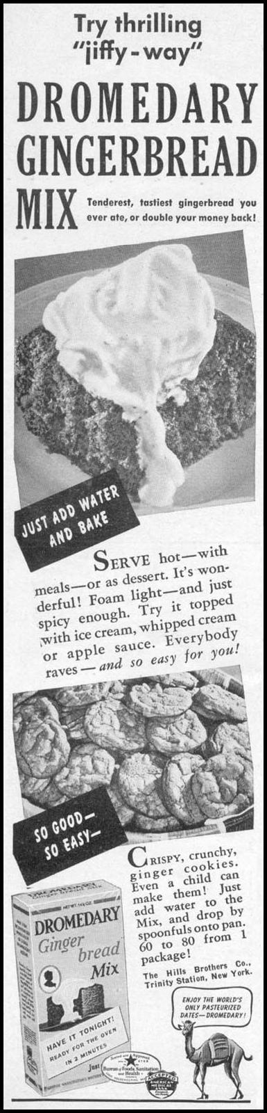DROMEDARY GINGERBREAD MIX WOMAN'S DAY 04/01/1941 p. 74