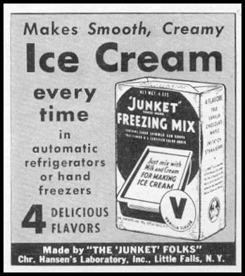 JUNKET ICE CREAM FREEZING MIX WOMAN'S DAY 06/01/1941 p. 59