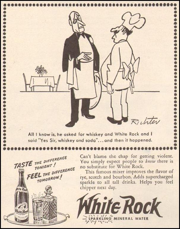WHITE ROCK MINERAL WATER LIFE 11/13/1944 p. 50