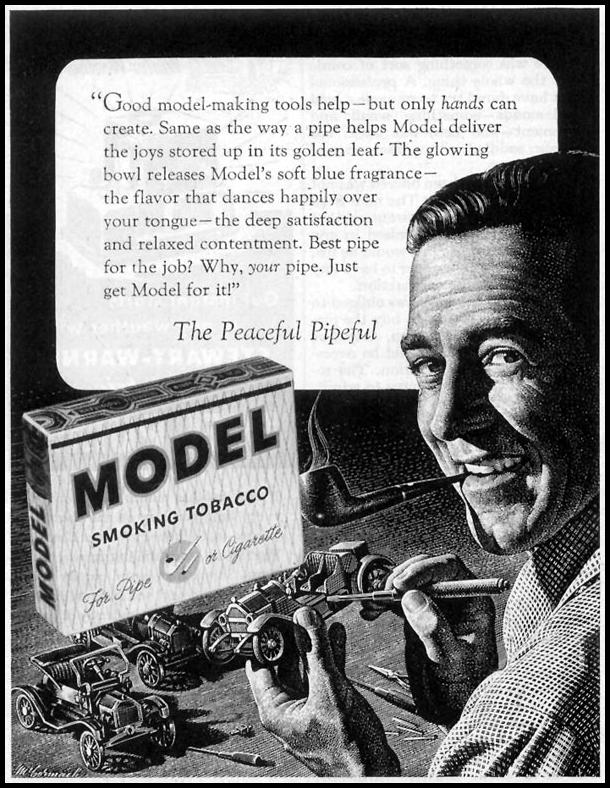 MODEL SMOKING TOBACCO SATURDAY EVENING POST 03/26/1955 p. 104
