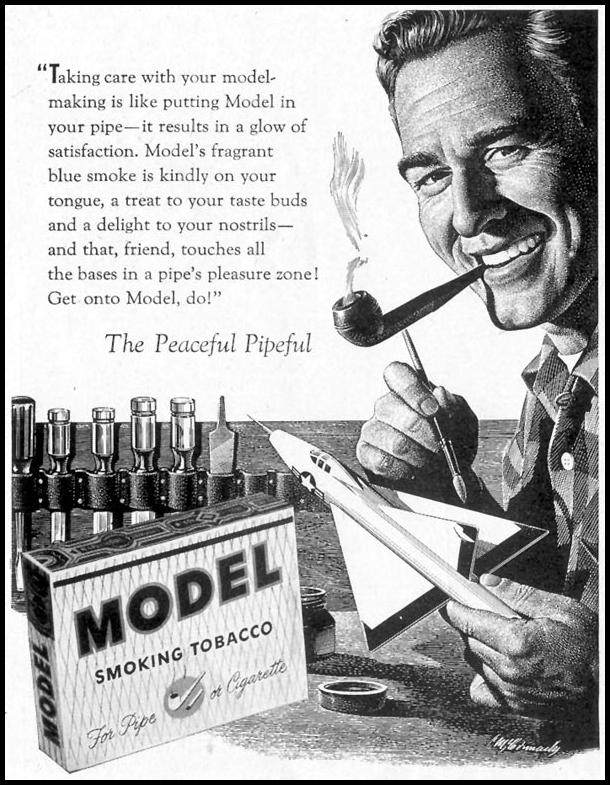 MODEL SMOKING TOBACCO SATURDAY EVENING POST 04/09/1955 p. 120