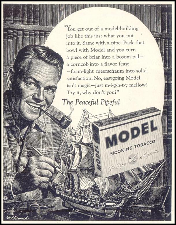 MODEL SMOKING TOBACCO SATURDAY EVENING POST 06/04/1955 p. 115