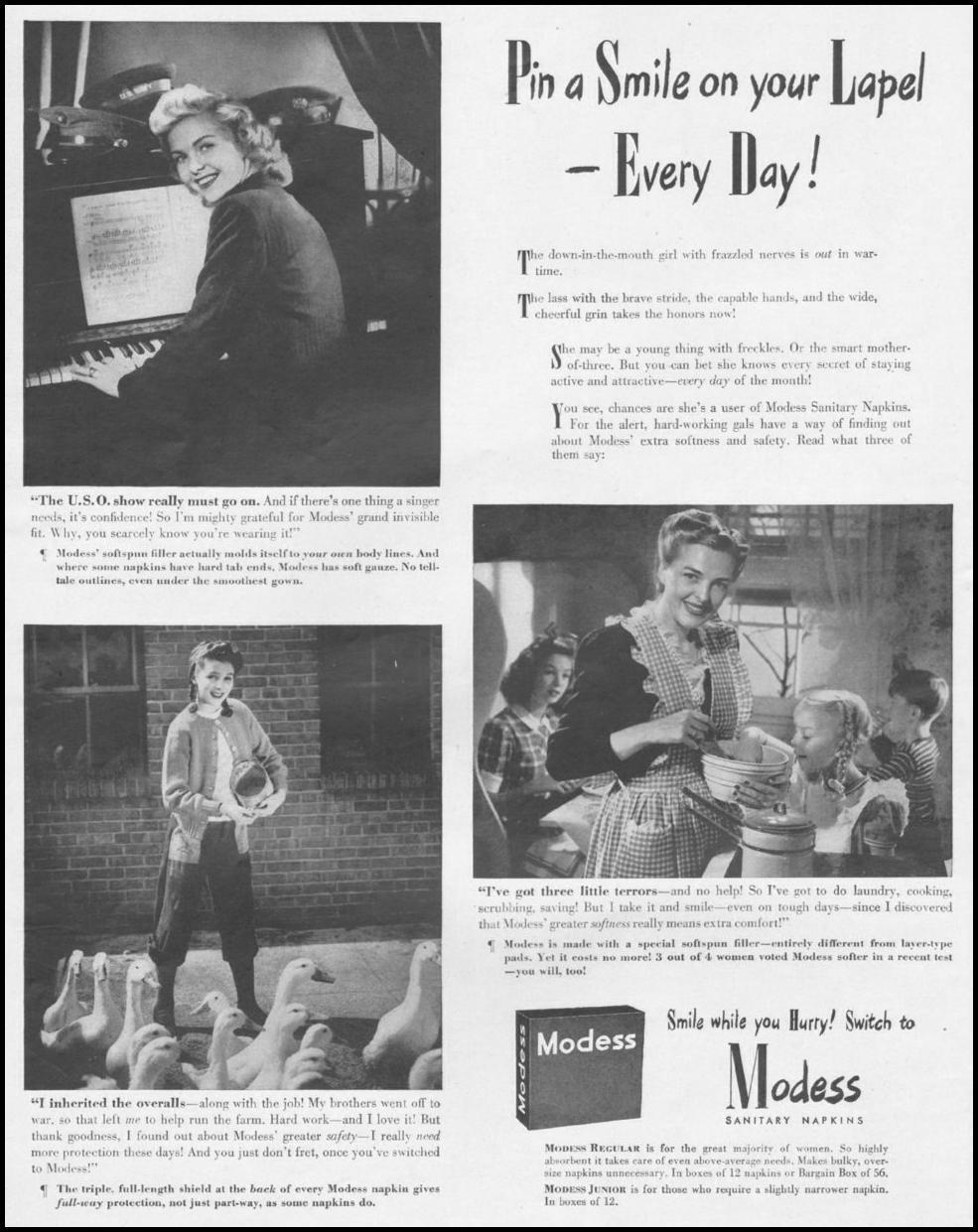 MODESS LIFE 10/25/1943 p. 80