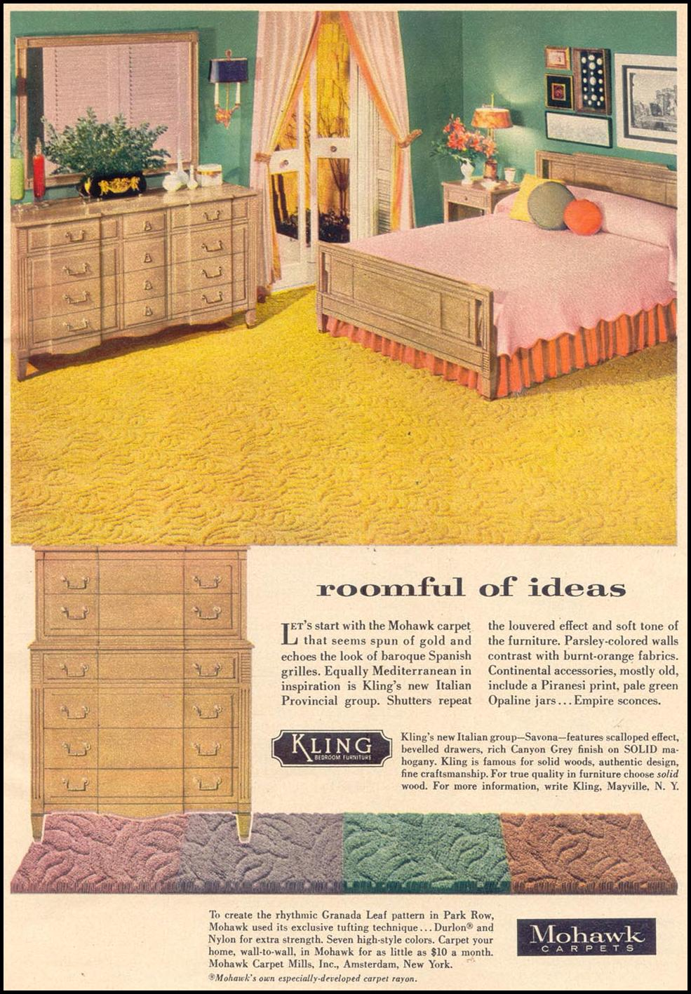 MOHAWK CARPETS WOMAN'S DAY 11/01/1955 p. 17