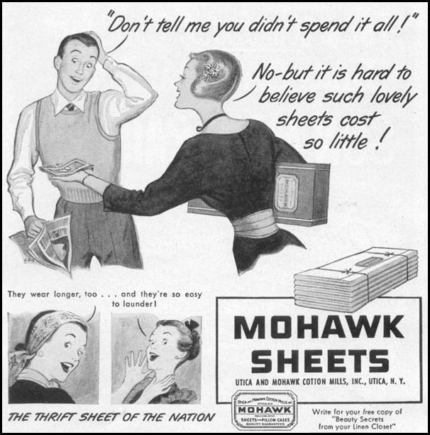 MOHAWK SHEETS WOMAN'S DAY 12/01/1948 p. 96
