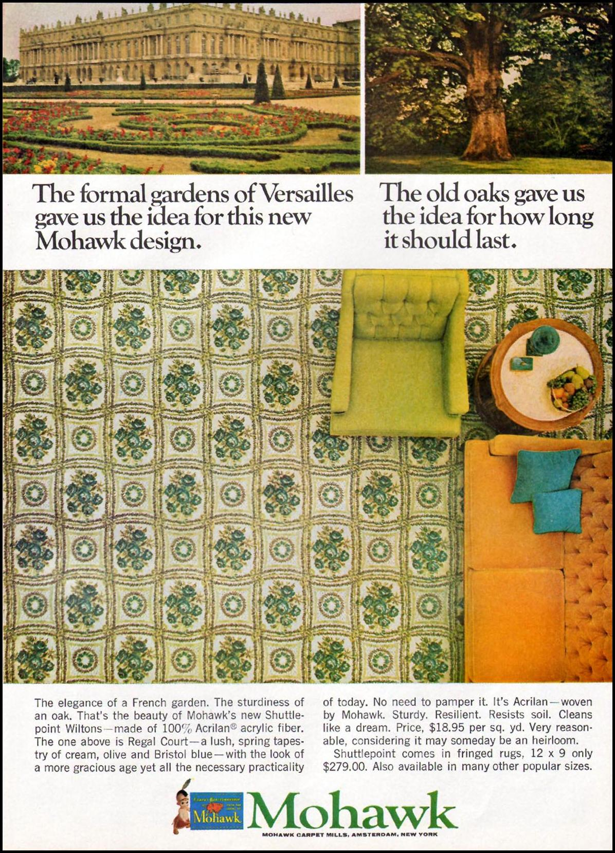 MOHAWK CARPETS GOOD HOUSEKEEPING 10/01/1965 p. 193