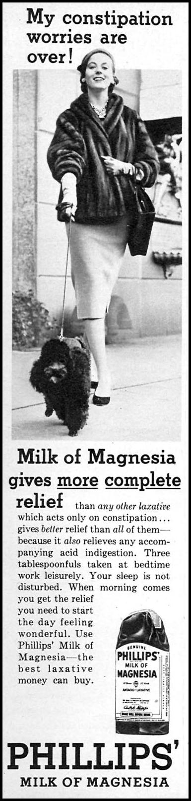 PHILLIPS' MILK OF MAGNESIA FAMILY CIRCLE 02/01/1957 p. 68