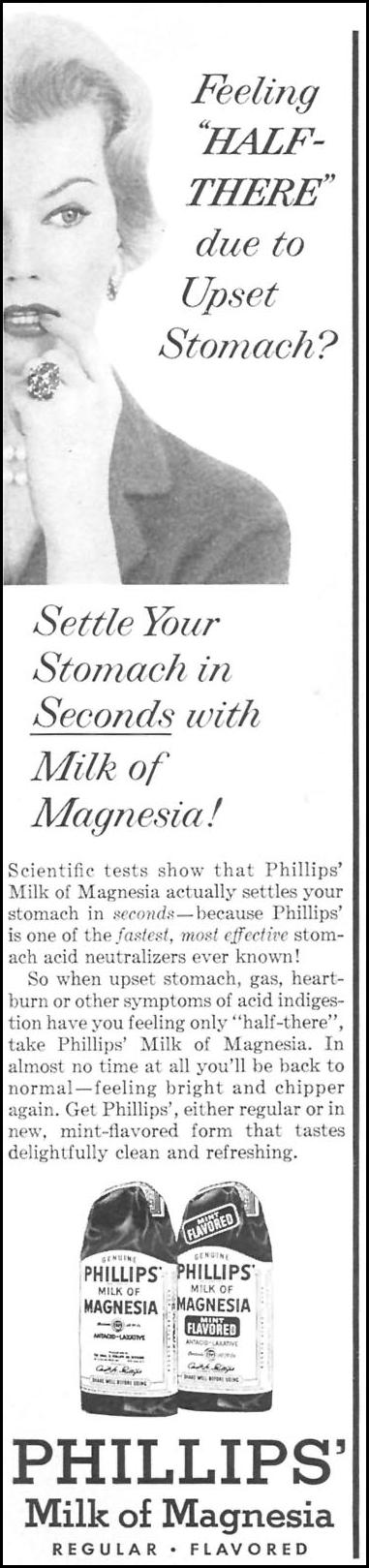 PHILLIPS' MILK OF MAGNESIA WOMAN'S DAY 06/01/1958 p. 12