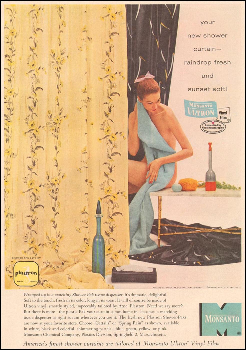 MONSANTO ULTRON VINYL FILM GOOD HOUSEKEEPING 05/01/1957 p. 203