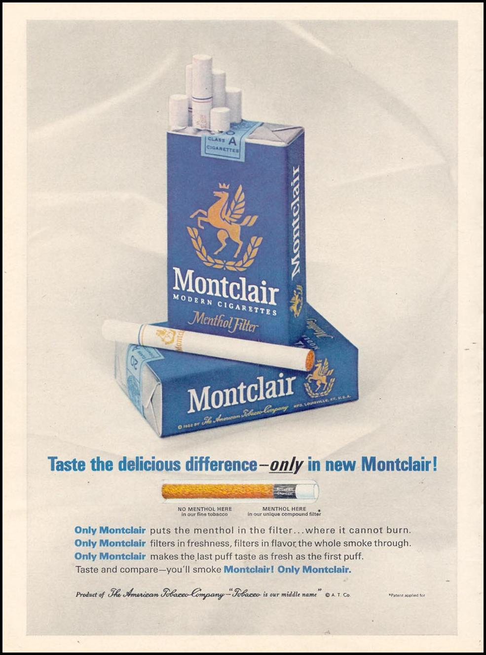 MONTCLAIR CIGARETTES TIME 10/25/1963 p. 38