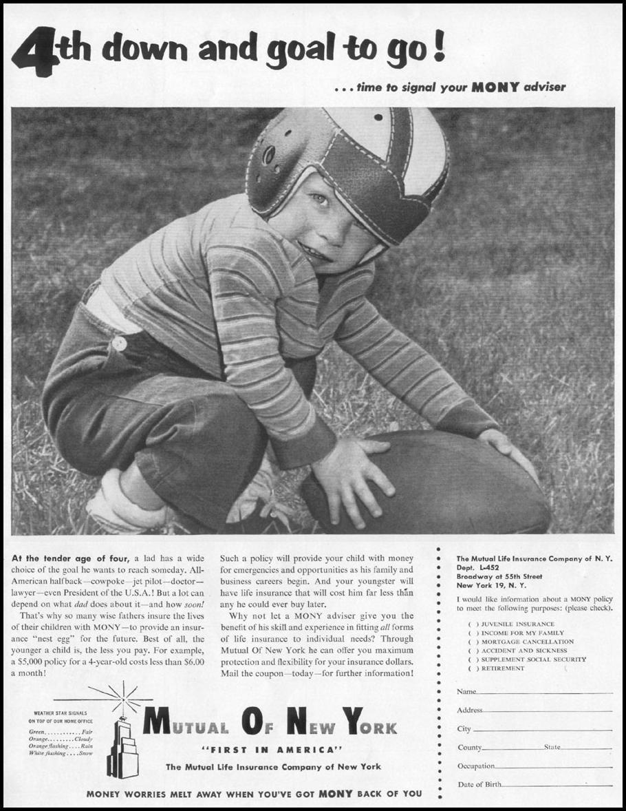 LIFE INSURANCE LIFE 10/13/1952 p. 21