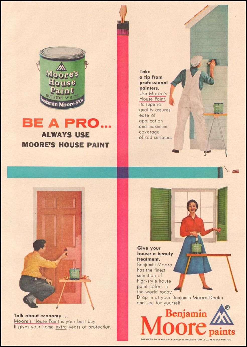 BENJAMIN MOORE PAINTS GOOD HOUSEKEEPING 05/01/1957 p. 201