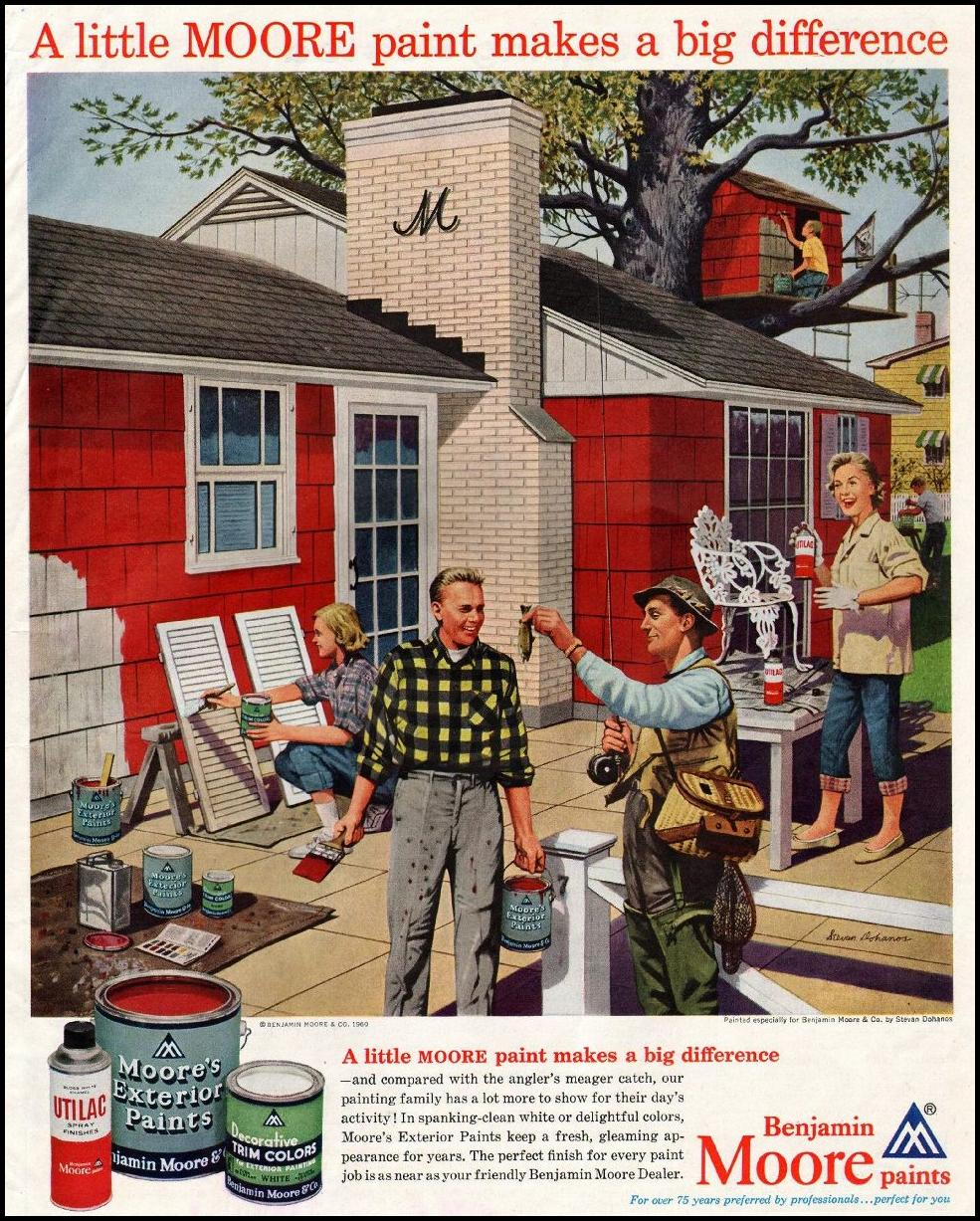 BENJAMIN MOORE PAINTS SATURDAY EVENING POST 06/04/1960 p. 111