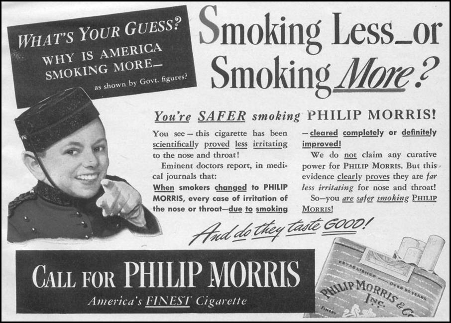 PHILIP MORRIS CIGARETTES WOMAN'S DAY 05/01/1943 p. 67