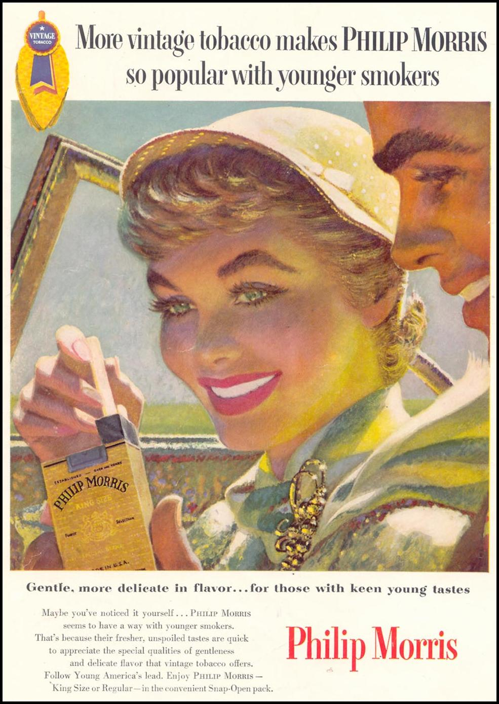<b>PHILIP MORRIS</b> CIGARETTES WOMAN&#39;S DAY 07/01/1955 INSIDE FRONT - morris-day-07-01-1955-000-M5