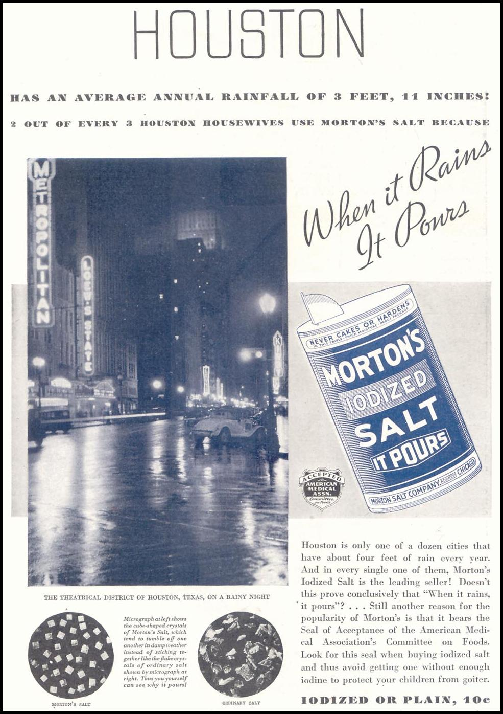 MORTON'S IODIZED SALT GOOD HOUSEKEEPING 11/01/1933 p. 133