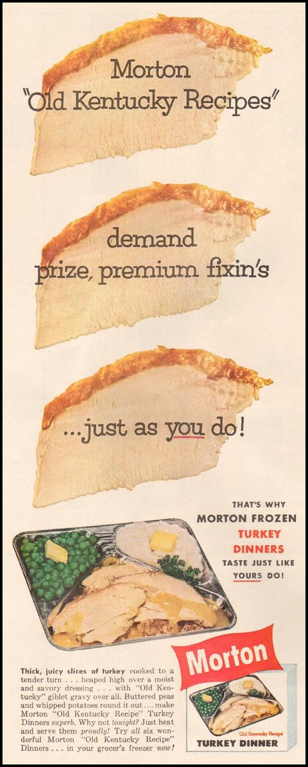 MORTON FROZEN TURKEY DINNERS LIFE 10/05/1959 p. 66