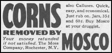 MOSCO CORN AND CALLUS REMOVER SATURDAY EVENING POST 06/11/1960 p. 112