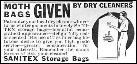 SANITEX STORAGE BAGS GOOD HOUSEKEEPING 04/01/1936 p. 247