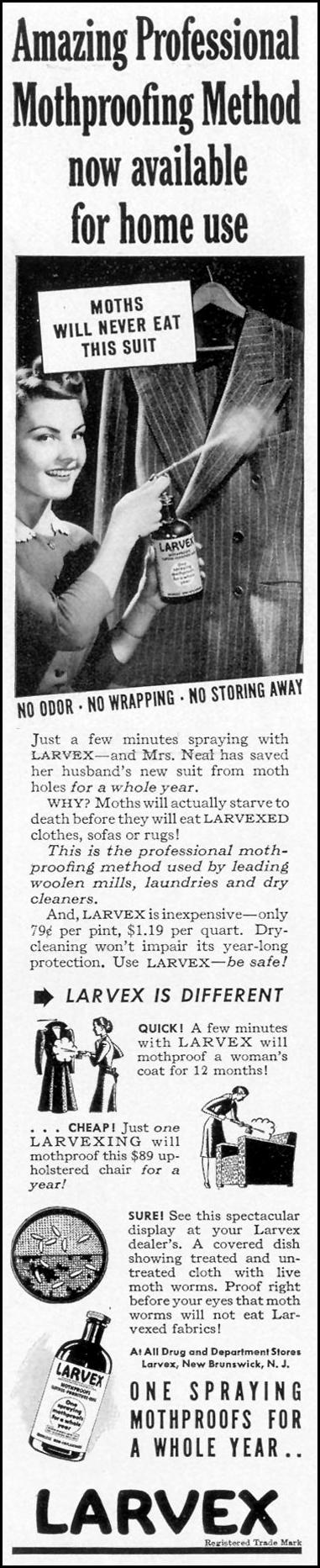 LARVEX MOTHPROOFER LIFE 06/01/1942 p. 68
