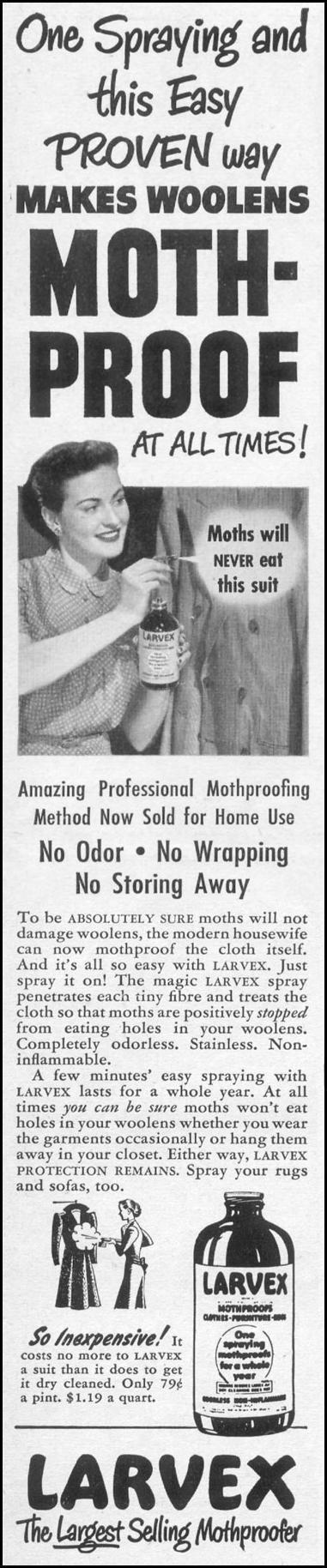 LARVEX MOTHPROOFER LIFE 06/05/1950 p. 70