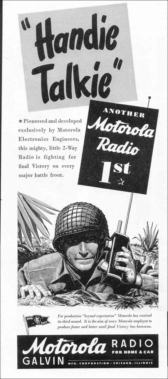 MOTOROLA HANDIE-TALKIES LIFE 02/14/1944 p. 74