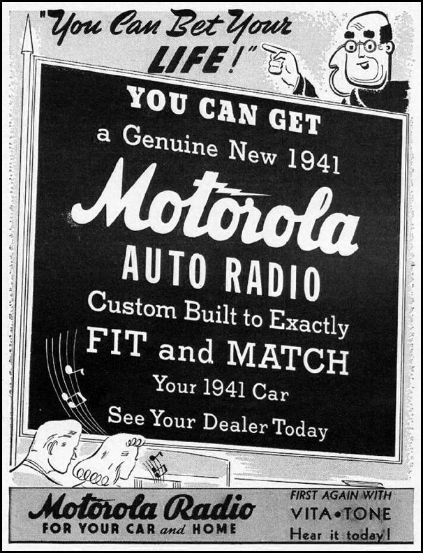 MOTOROLA AUTO RADIO LIFE 12/16/1940 p. 104