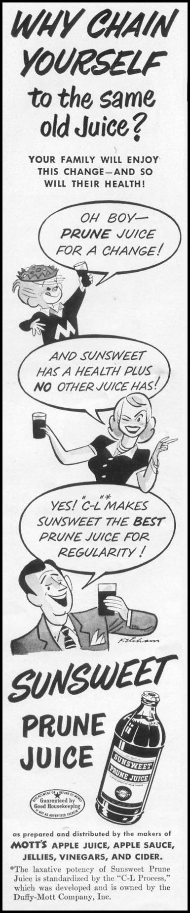SUNSWEET PRUNE JUICE LIFE 06/05/1950 p. 48
