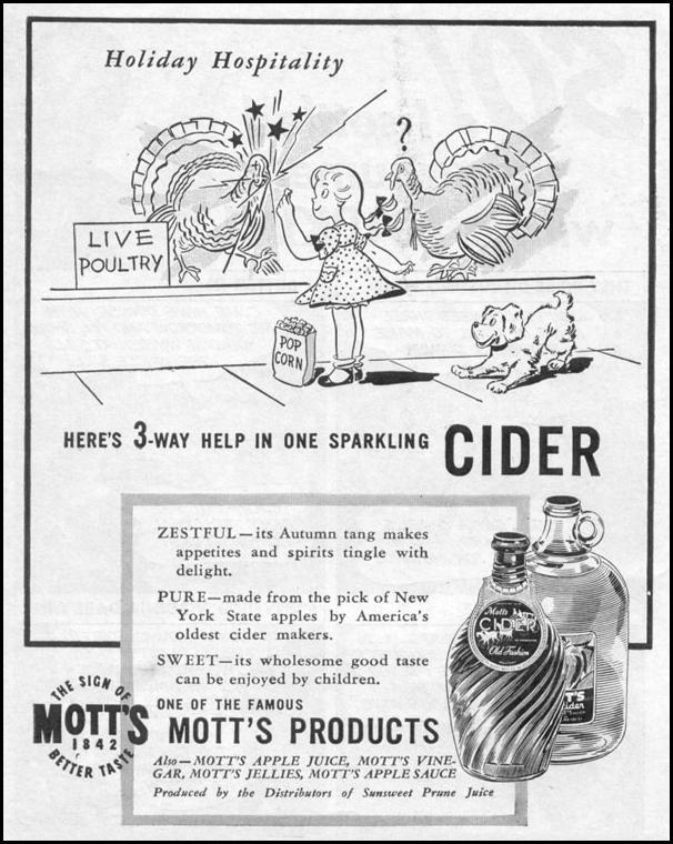 MOTT'S APPLE CIDER LIFE 11/02/1942 p. 84
