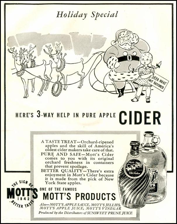 MOTT'S APPLE CIDER LIFE 11/30/1942 p. 98