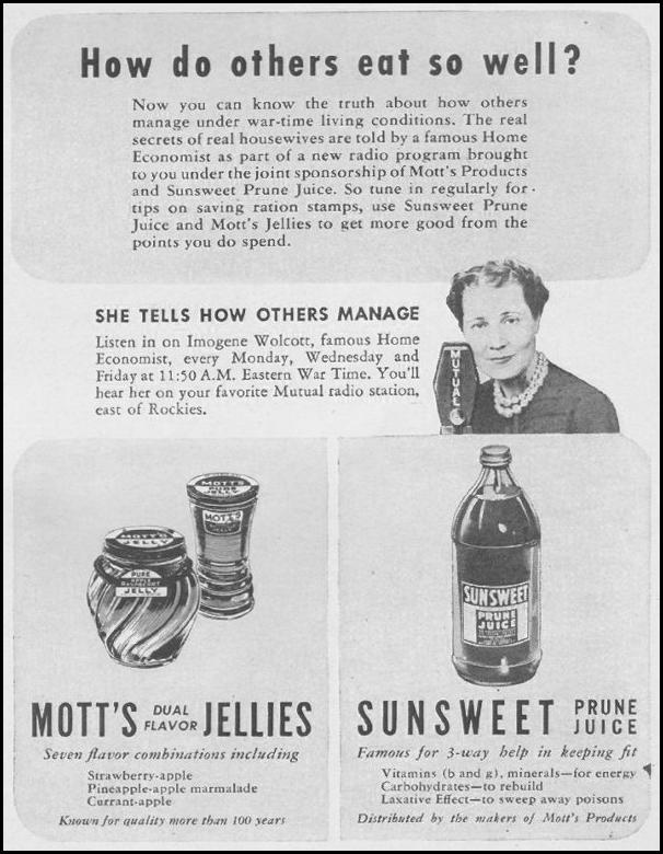 MOTT'S FRUIT PRODUCTS LIFE 08/09/1943 p. 91