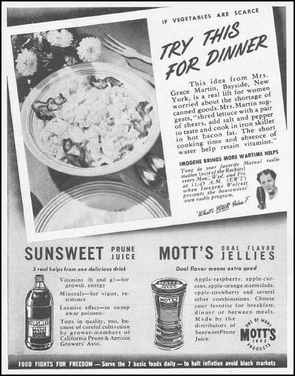 MOTT'S FRUIT PRODUCTS LIFE 10/25/1943 p. 86