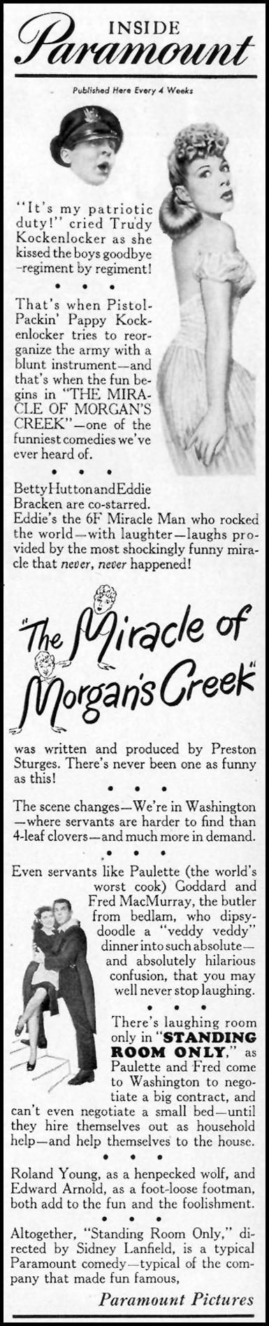 THE MIRACLE OF MORGAN'S CREEK LIFE 02/21/1944 p. 8