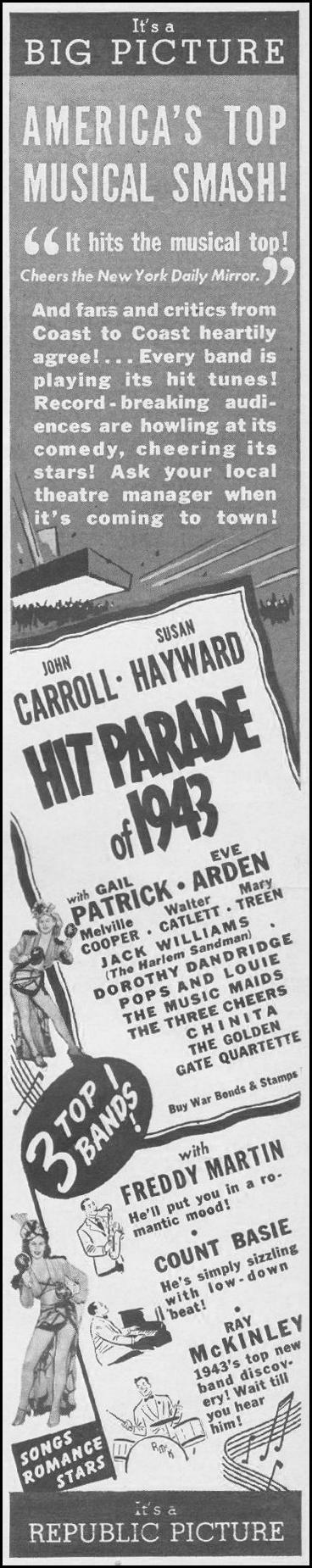 HIT PARADE OF 1943 LIFE 06/22/1942 p. 12