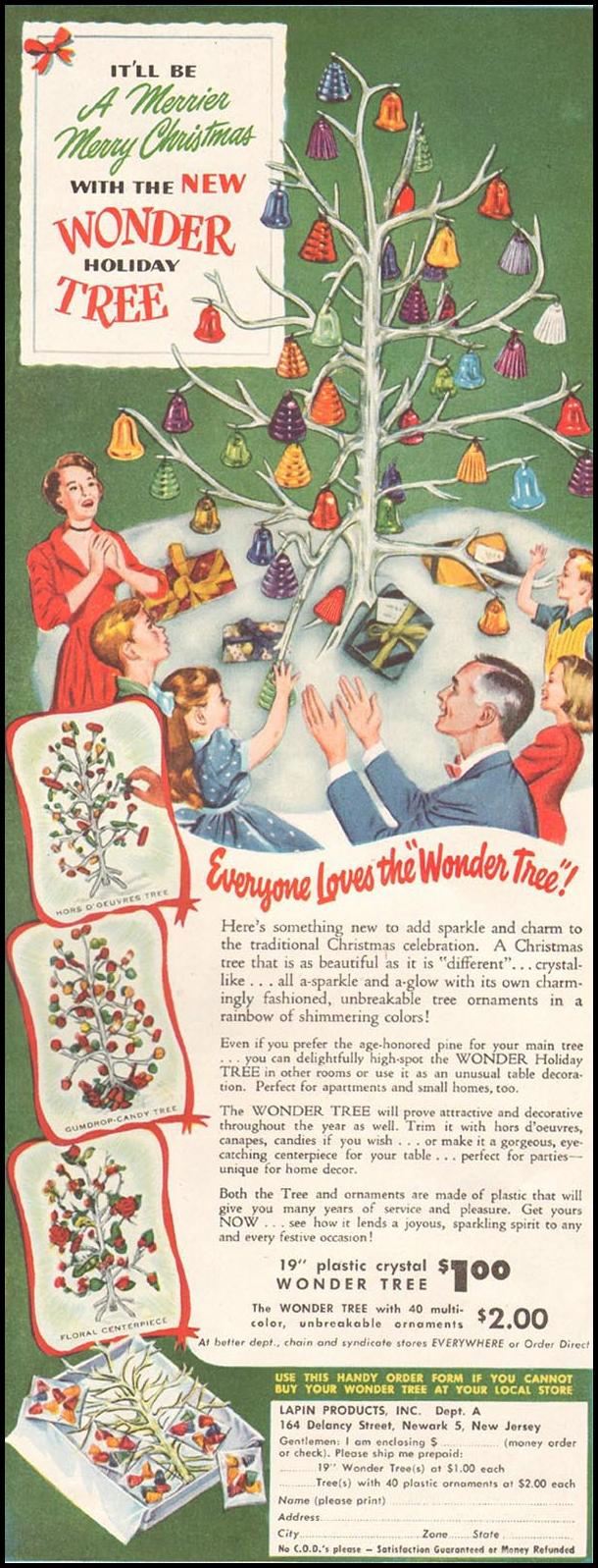 WONDER HOLIDAY TREE LADIES' HOME JOURNAL 11/01/1950 p. 143
